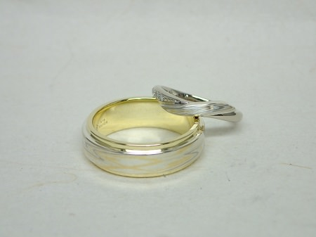 14093001木目金の結婚指輪K_002.JPG