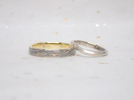 16112001木目金の婚約・結婚指輪_U004.JPG