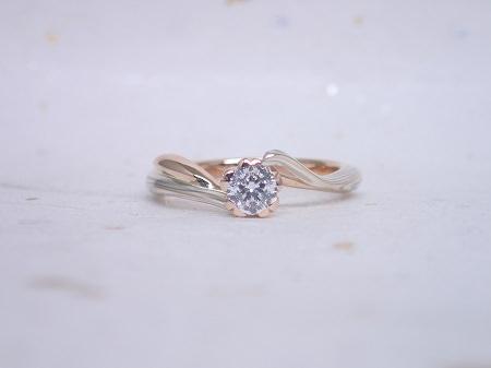 17021101木目金の婚約指輪と結婚指輪M_004①.JPG