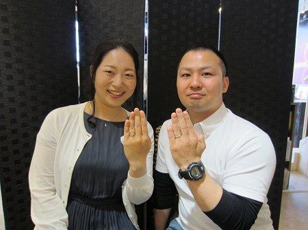 17043001木目金の婚約指輪と結婚指輪_A003.JPG