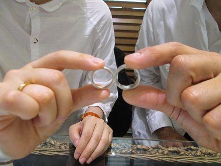 17082701木目金の婚約指輪 結婚指輪M_001.JPG