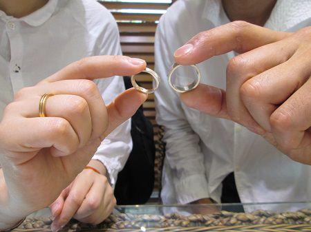 17082701木目金の婚約指輪 結婚指輪M_002.JPG