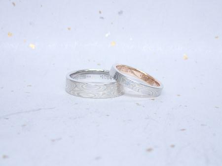 17082701木目金の婚約指輪 結婚指輪M_004.JPG