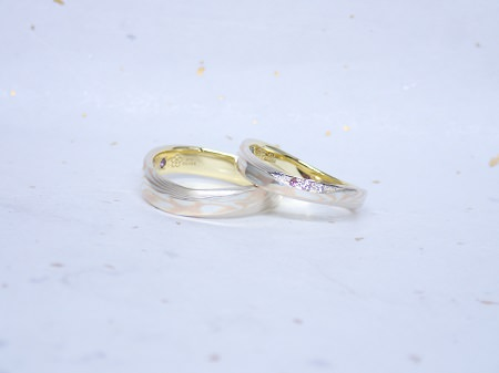 17103001木目金の婚約指輪・結婚指輪_U004.JPG