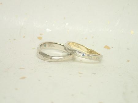 17111801木目金の婚約指輪と結婚指輪_A003②.JPG