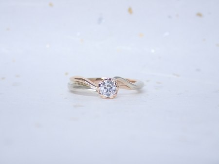 17122301木目金の婚約指輪と結婚指輪_Y003.JPG