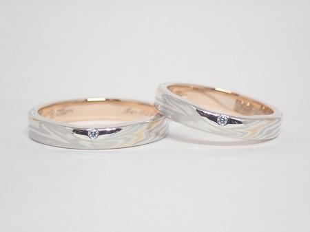 21013101木目金の婚約指輪と結婚指輪₋D004-2.JPG