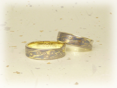 120309木目金の結婚指輪 銀.JPG