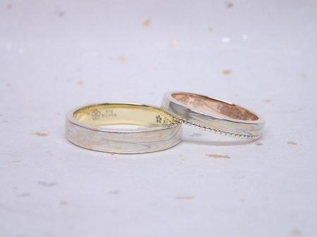 16112602木目金の結婚指輪.JPG