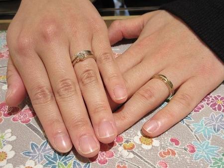 木目金の婚約指輪と結婚指輪.JPG