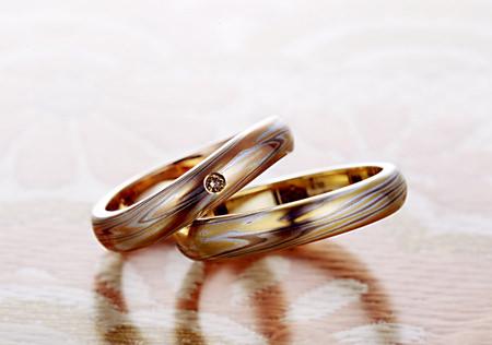 110624 木目金の結婚指輪甲丸.jpg