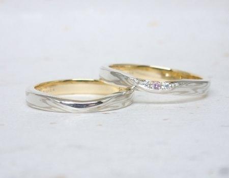 17082601木目金の結婚指輪③.JPG