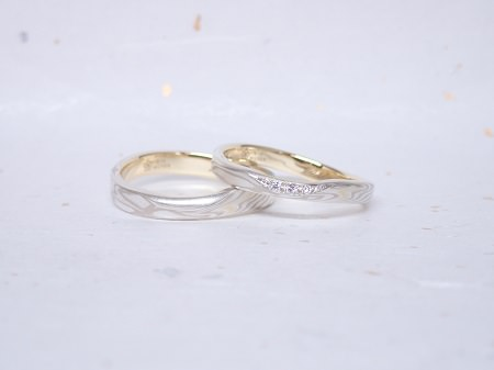 18110303木目金の婚約指輪・結婚指輪_J005③.JPG