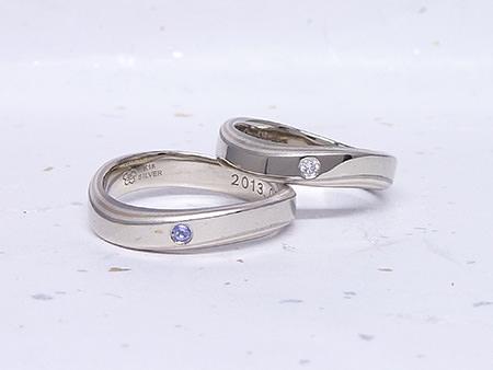 グリ彫りの結婚指輪.JPG