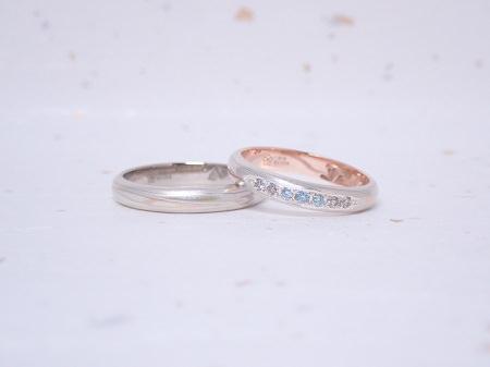 19090801木目金の婚約指輪と結婚指輪_M004.JPG
