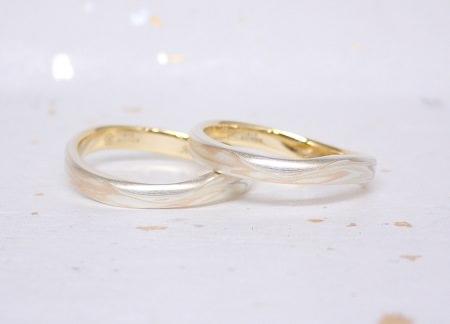 18061301木目金の婚約指輪と結婚指輪 1-2.JPG