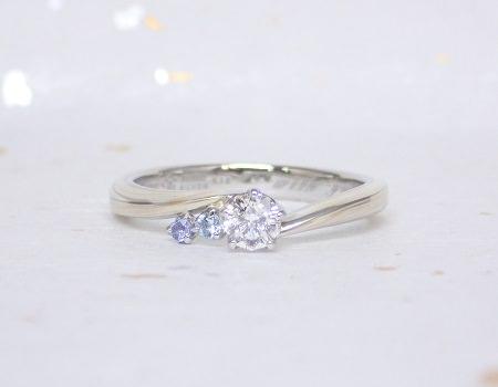 18061301木目金の婚約指輪と結婚指輪1-1.JPG