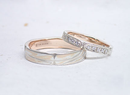 Mokumeganeya VIP Wedding band and wedding ring with Japanese beauty