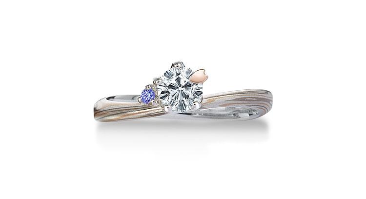 Engagement ring(Koi-kaze): Tanzanite on the surface