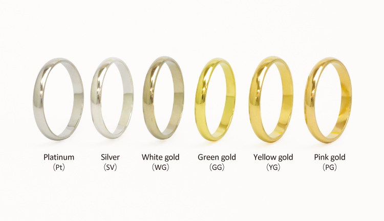 Kinds of metal for wedding rings