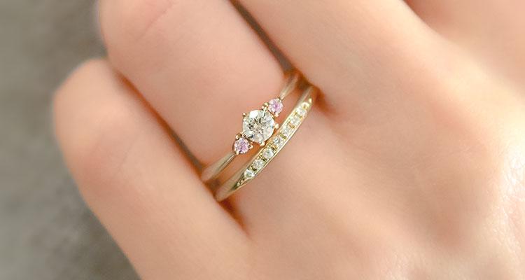 婚約指輪・恋桜・結婚指輪・恋桜・重ね付け