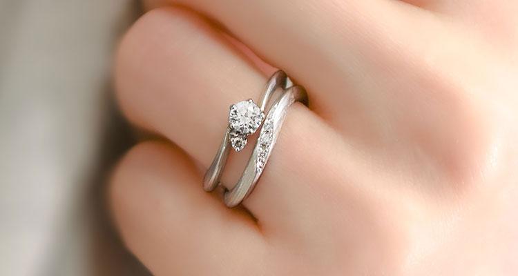 婚約指輪・月桜・結婚指輪・月桜・重ね付け