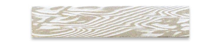 木目金の板素材ホワイトゴールド(WG)×シルバー(SV)